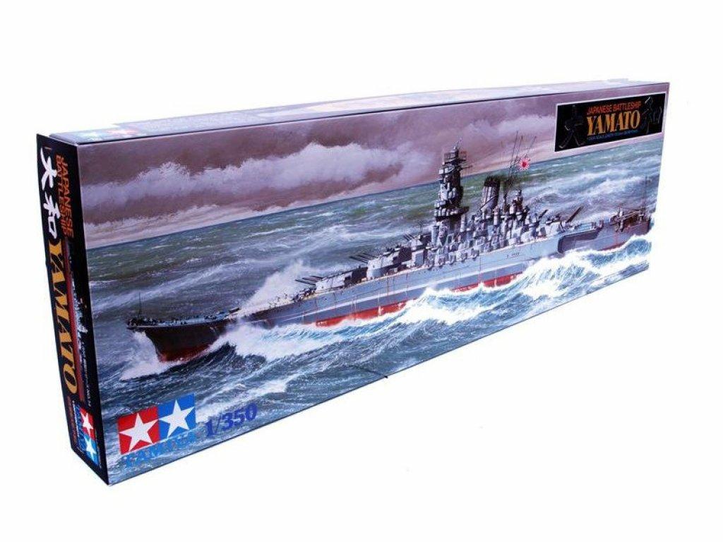 1:350 Tamiya Японский линкор Yamato, с новыми пушками, радарами и другими надстройками.