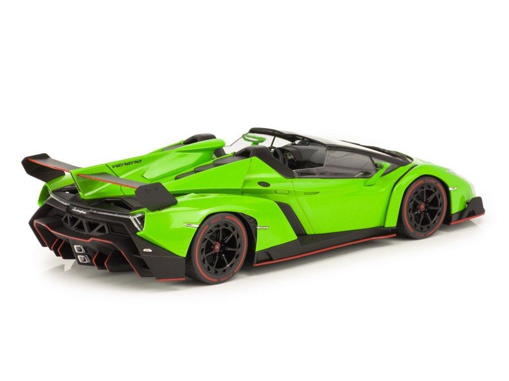 1:18 Kyosho Lamborghini Veneno Roadster зеленый с красным