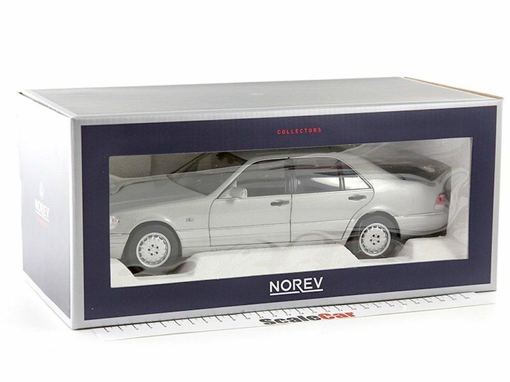 1:18 Norev MERCEDES-BENZ S600 (W140) 1997 серый перламутр