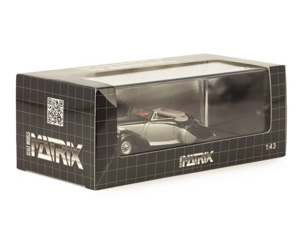 1:43 Matrix Daimler DB18 DHC Carlton 1938 черный/серебристый
