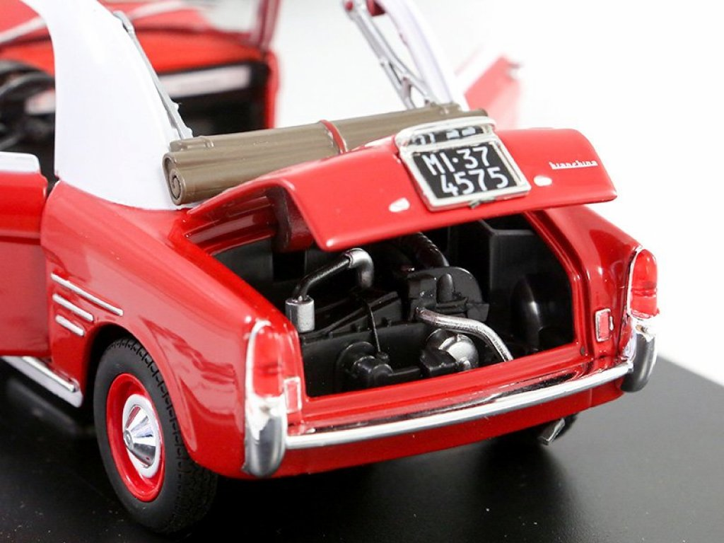 1:24 Leo Models Autobianchi Bianchina Transformabile 1958 красный/белый