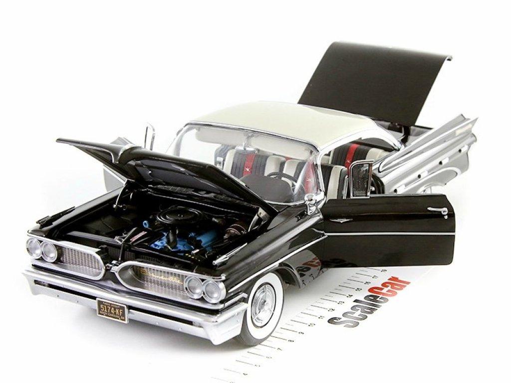 1:18 Sunstar Pontiac Bonneville Hard Top 1959 cameo ivory/regent black бежевый/черный