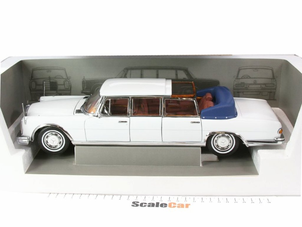 1:18 Sunstar Mercedes-Benz 600 Landaulet (W100) 1966 белый