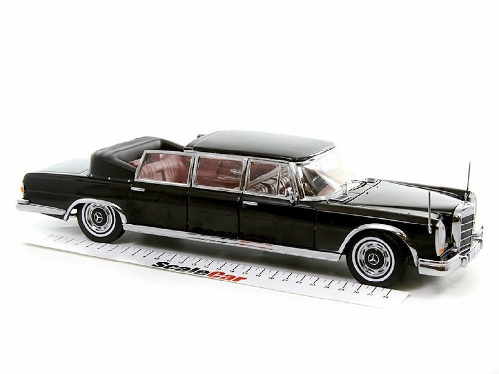 1:18 Sunstar Mercedes-Benz 600 Landaulet (W100) 1966 черный