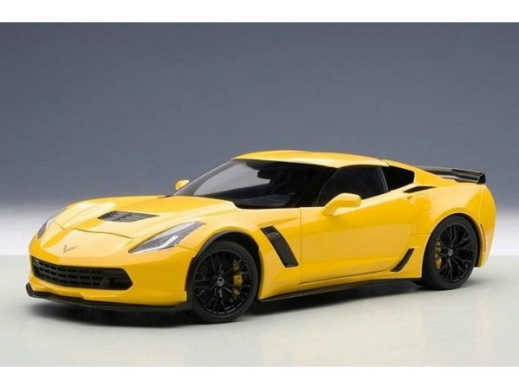1:18 AUTOart Chevrolet Corvette C7 Z06 2014 желтый