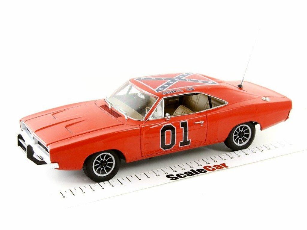 1:18 Auto World Dodge Charger 1969 Dukes of Hazard General Lee, orange Генерал Ли из к/ф Придурки из Хазарда, оранжевый