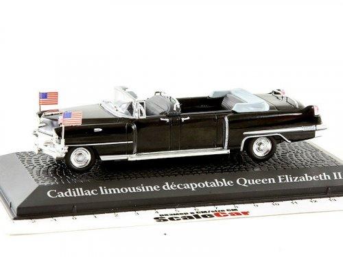 1:43 Atlas CADILLAC Limousine визит Queen Elizabeth II Voyage и Dwight D. Eisenhower в Париж 1959