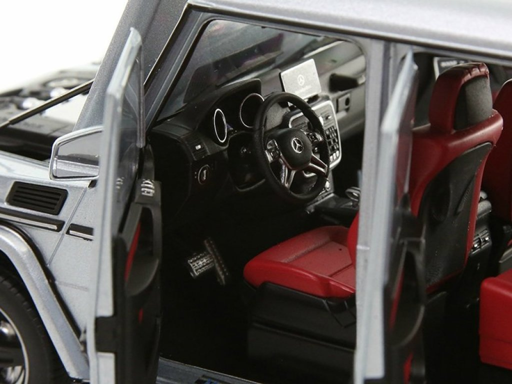1:18 Kyosho Mercedes-Benz G-Klasse 2015 W463 серебристый