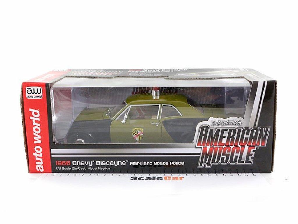 1:18 Auto World Chevrolet Biscayne Maryland State Police 1966 Полиция Мэриленда (США)