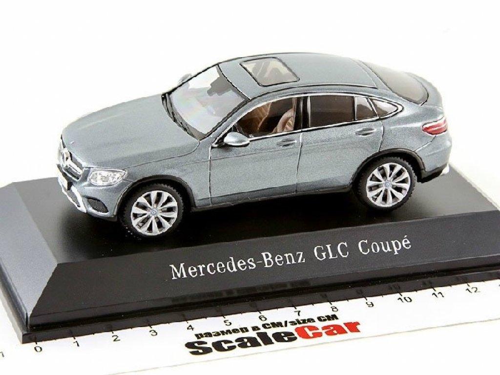 1:43 Spark Mercedes-Benz GLC Coupe 2016 C253 selenite grey met. Серый металик