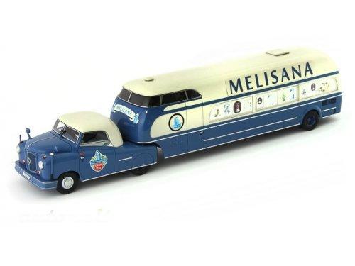 1:43 AutoCult Mercedes-Benz L312 Buhne Melisana,Germany,1956 пикап с жилым полуприцепом