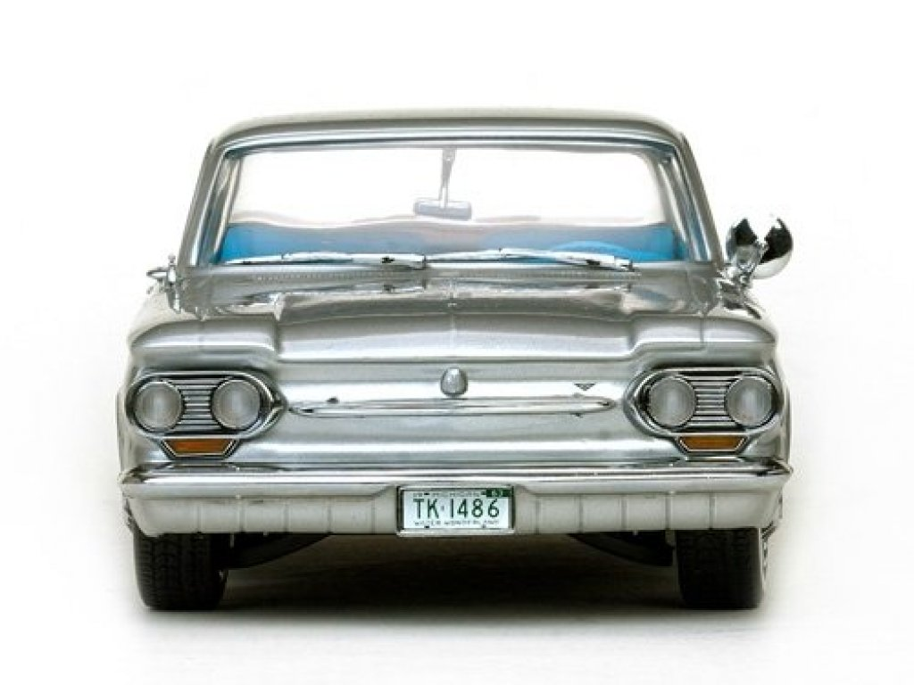 1:18 Sunstar Chevrolet Corvair Coupe 1963 satin silver