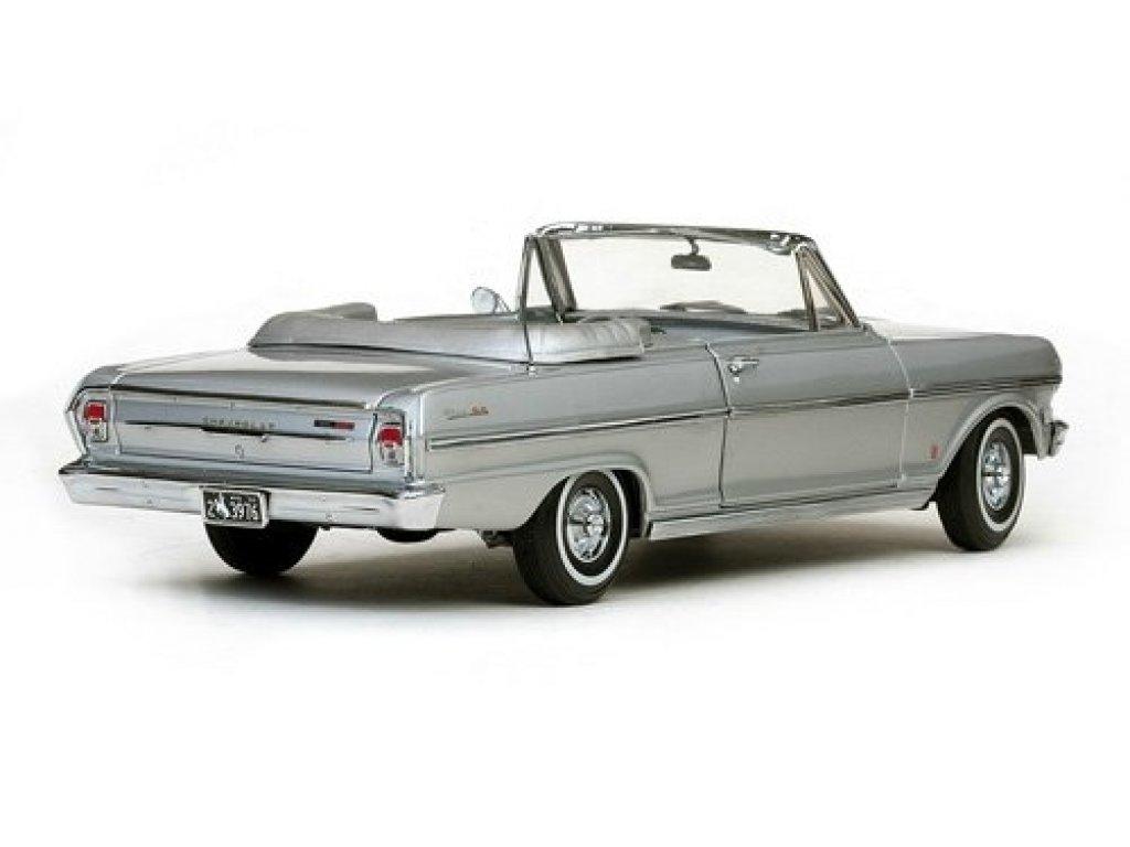 1:18 Sunstar Chevrolet Nova Open Convertible 1963 satin silver серебристый