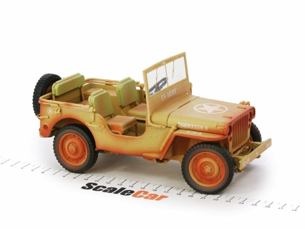 1:18 Triple9 Jeep Willys 1943 Casablanca грязный в пустынном песке