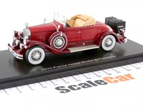 1:43 Esval Models Pierce Arrow Model B Roadster 1930 бордовый с открытым верхом