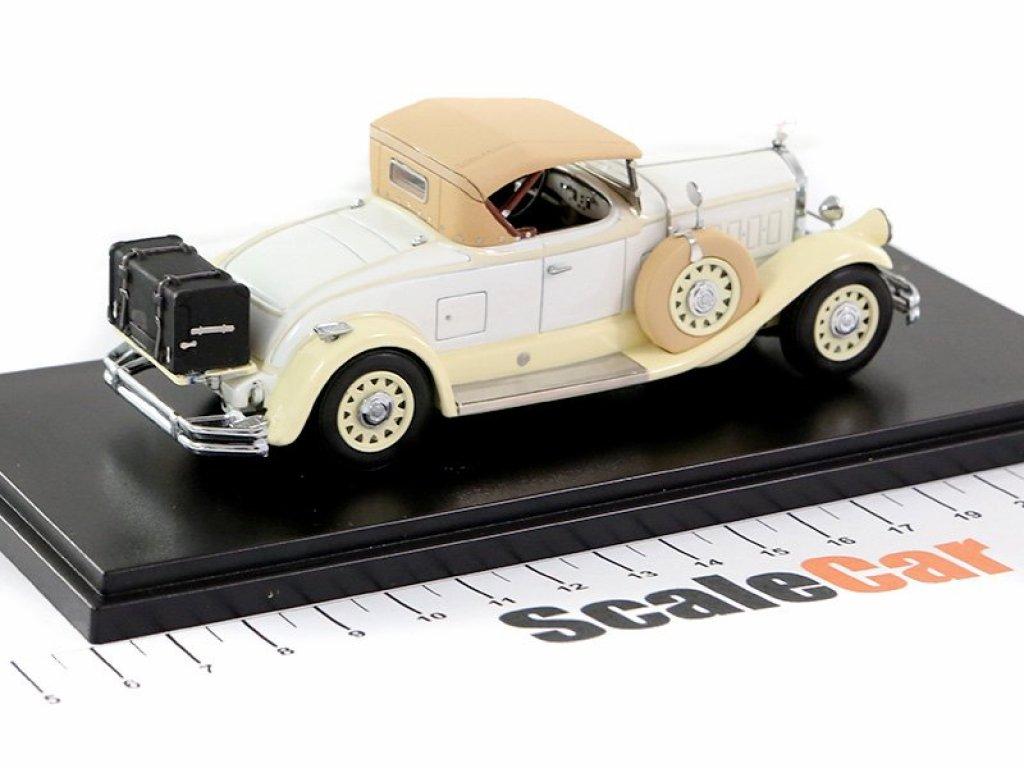 1:43 Esval Models Pierce Arrow Model B Roadster 1930 бежевый с поднятым тентом