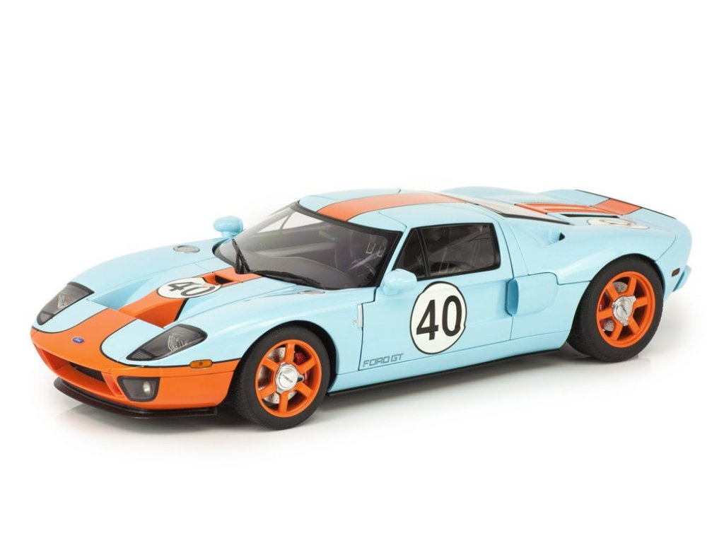 1:18 AUTOart Ford GT LM 2004 Gulf Livery #40