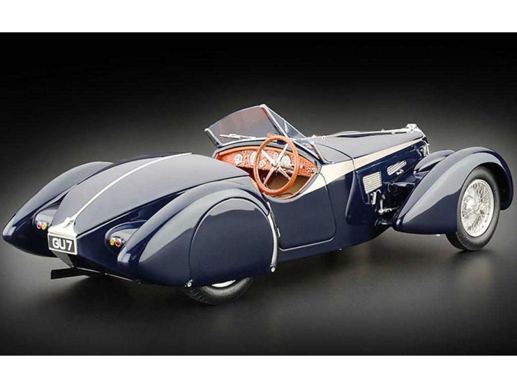 1:18 CMC Bugatti 57 SC Corsica Roadster Award Winning Version 1938 синий с сидениями из кожи крокодила