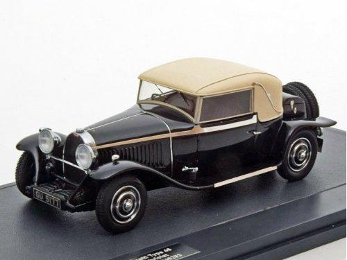 1:43 Matrix Bugatti Type 46 Faux Cabriolet Veth & Zoon #46293 1930 черный