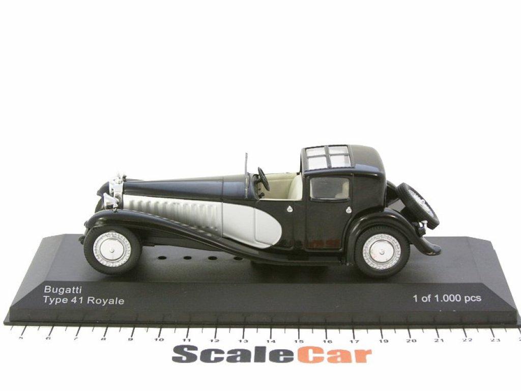 1:43 WhiteBox Bugatti Type 41 Royale 1928 черный с серебристым
