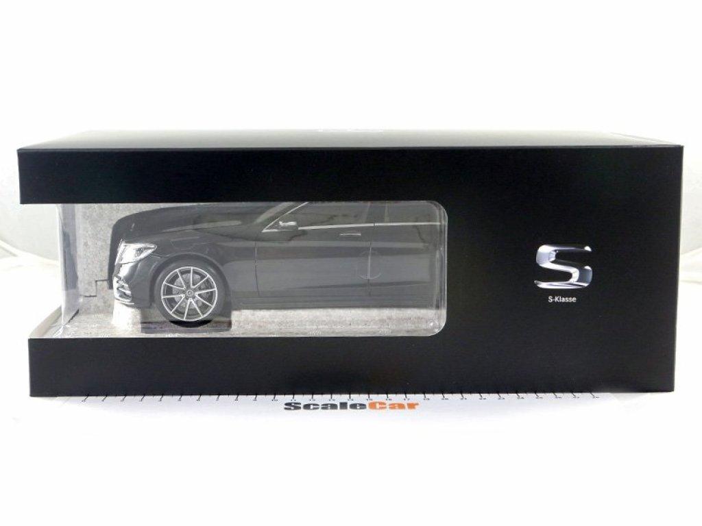 1:18 Norev Mercedes-Benz S-Klasse W222 (V222) рестайлинг 2017 черный металлик