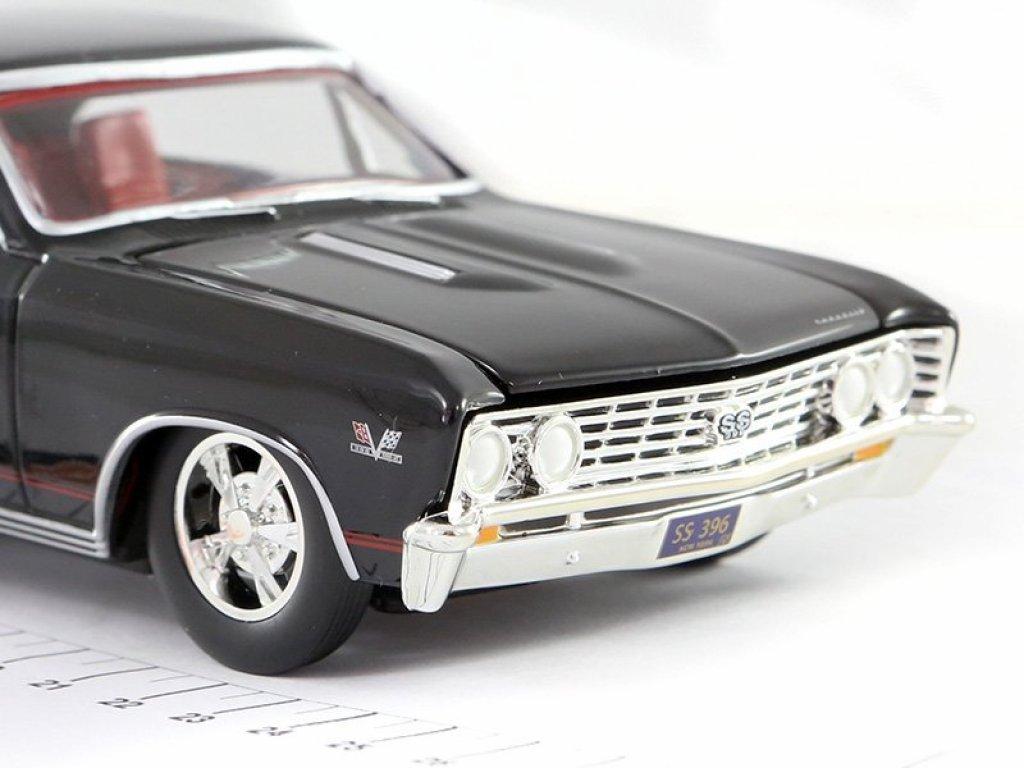 1:24 Auto World Chevrolet Chevelle SS 1967 черный