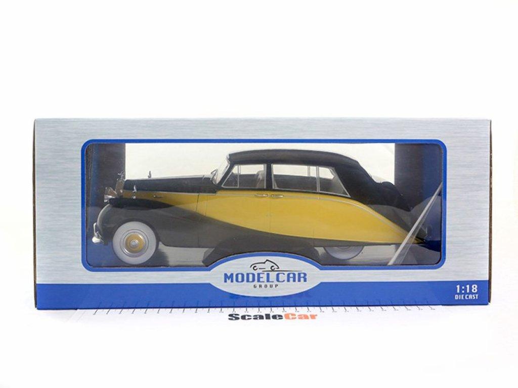 1:18 IXO Rolls Royce Silver Wraith Empress by Hooper 1956 черный с желтым