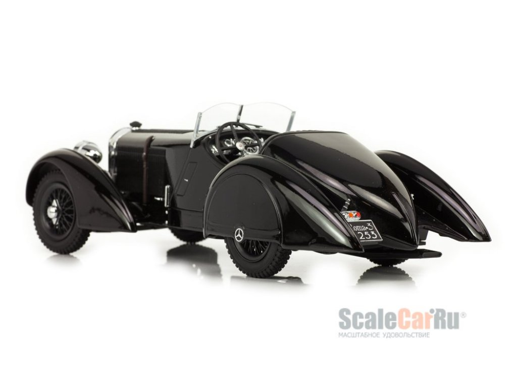 1:18 KK Scale Mercedes-Benz SSK Графа Trossi Der schwarze Prinz 1930 черный