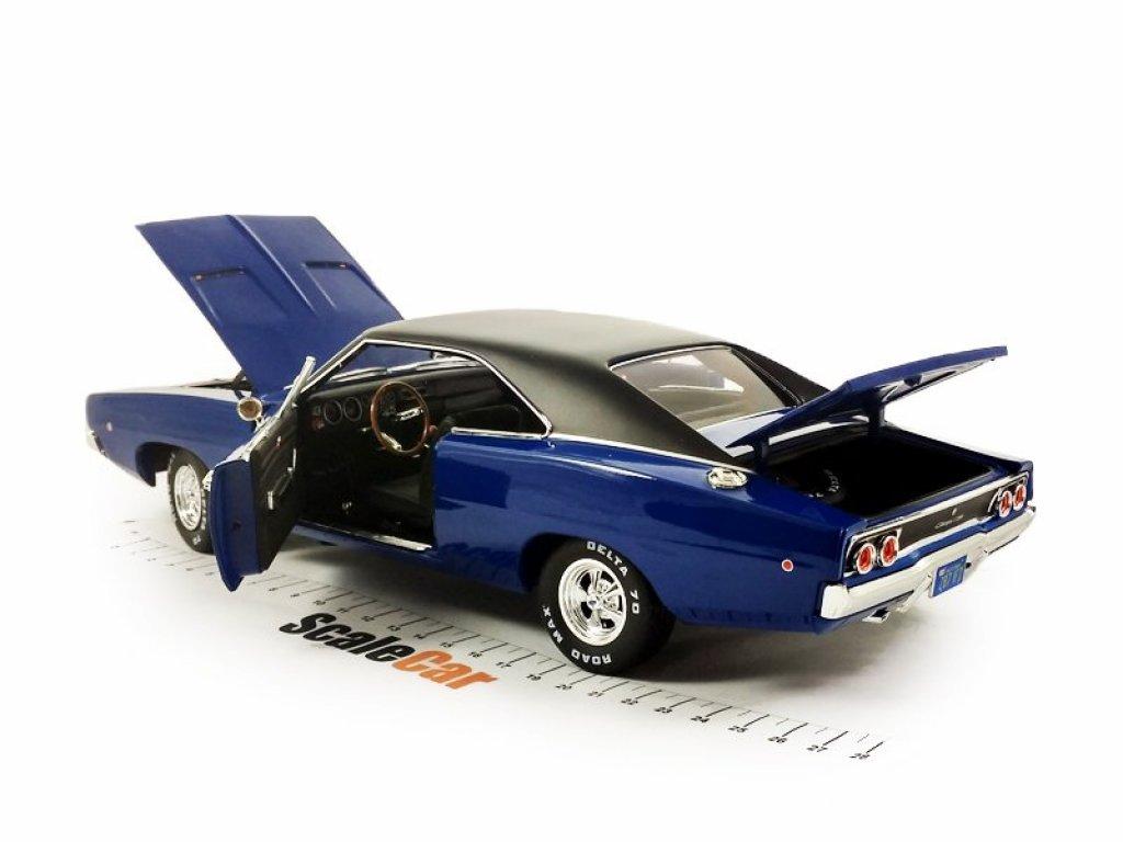 1:18 Auto World Dodge Charger из к/ф Кристина (автомобиль Дениса Гилдера) 1968 синий с черным