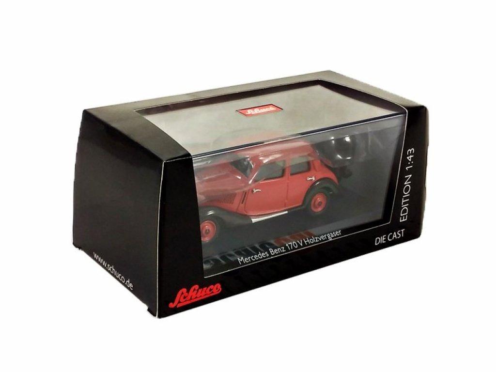 1:43 Schuco Mercedes-Benz 170V газогенераторный, красный