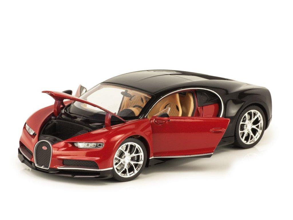 1:24 Welly Bugatti Chiron 2016 красный с черным