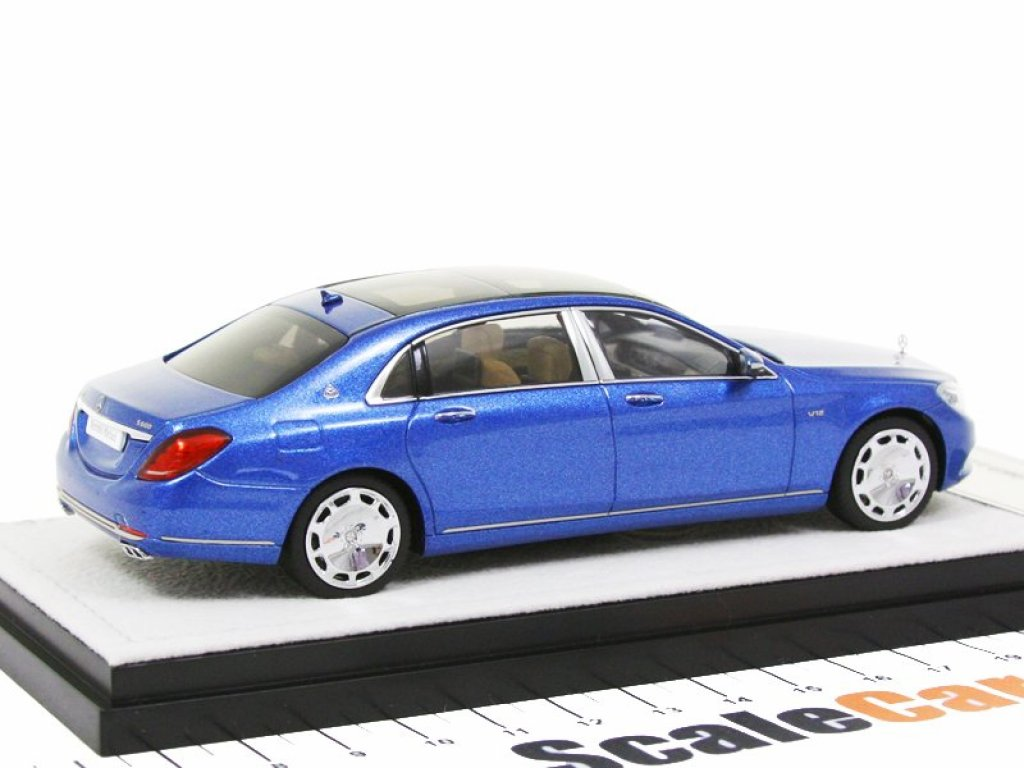 1:43 Almost Real Mercedes-Benz S-Class Maybach X222 (W222) 2016 брилиантово-синий металлик