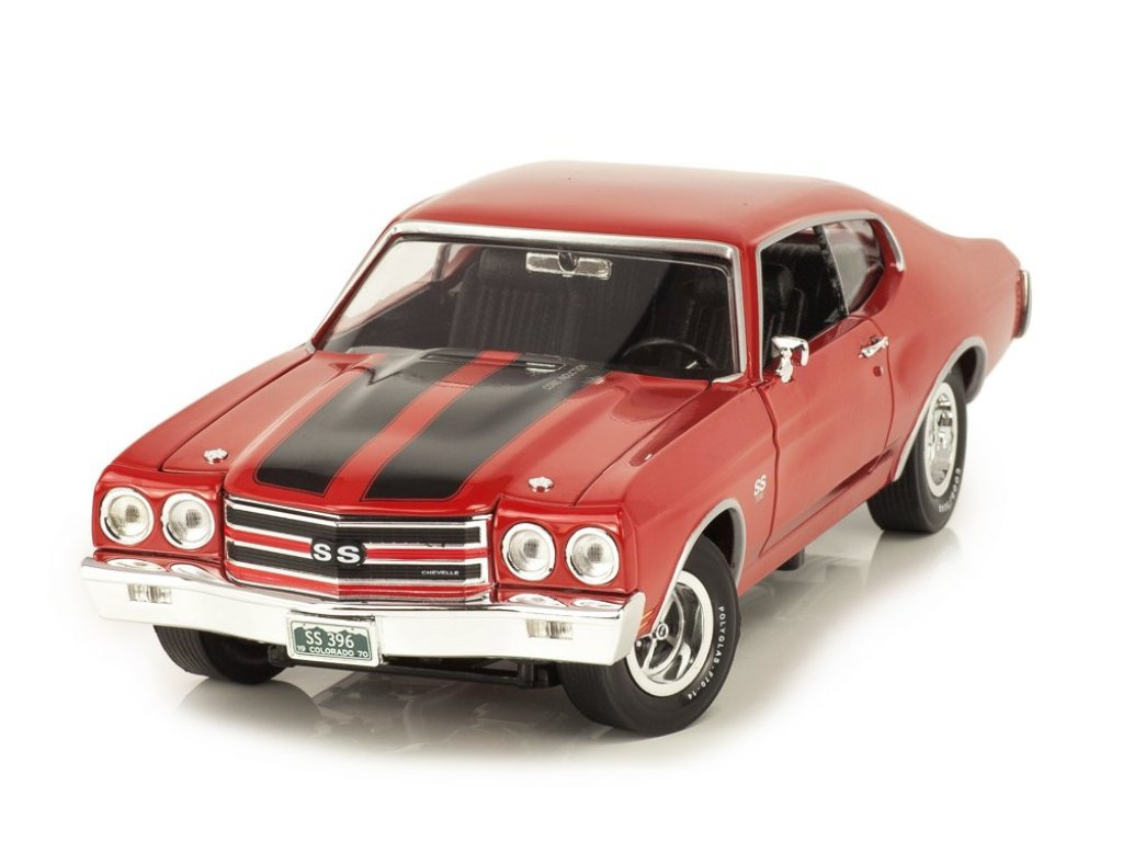 1:18 Auto World Chevrolet Chevelle SS 1970 красный с черным