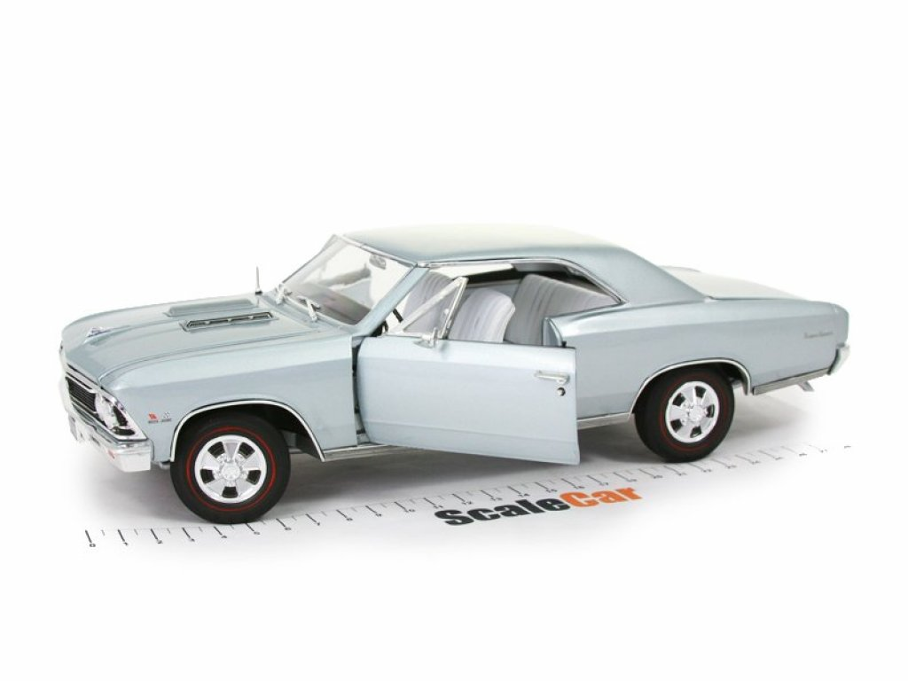 1:18 Auto World Chevrolet Chevelle SS 1966 голубой металлик