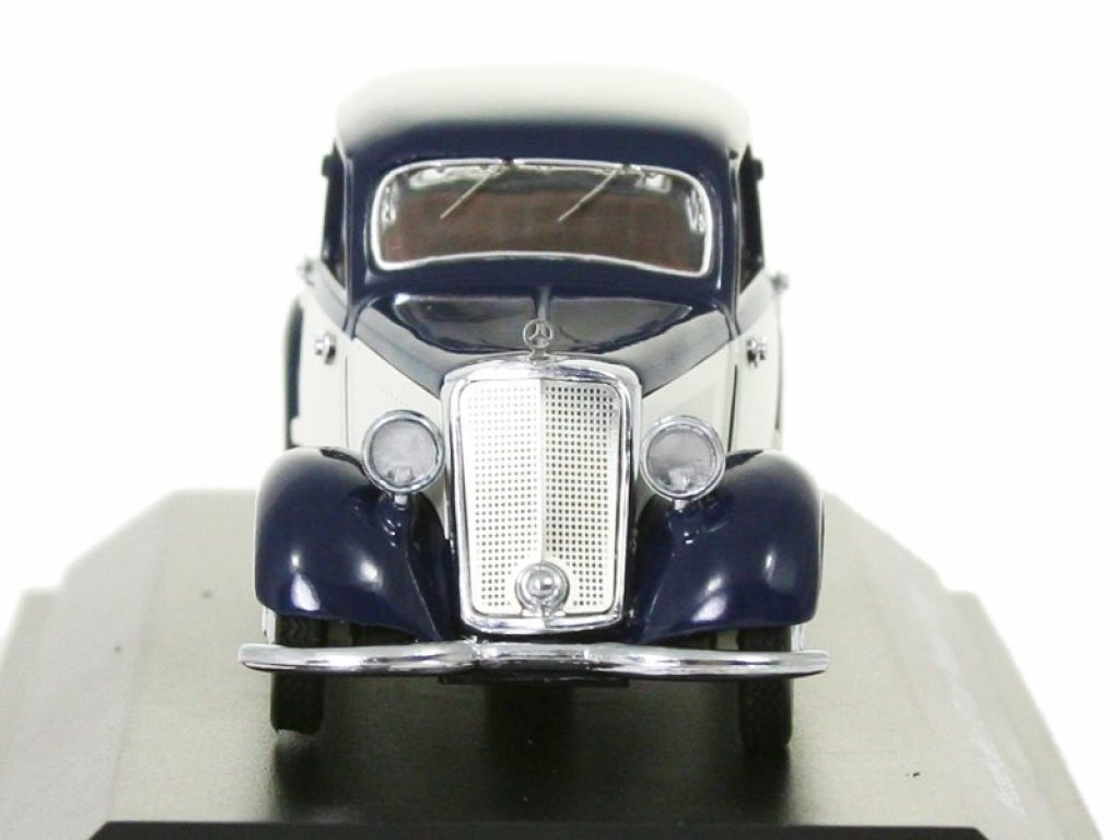 1:43 Schuco Mercedes-Benz 170V с прицепом, темно-синий с бежевым
