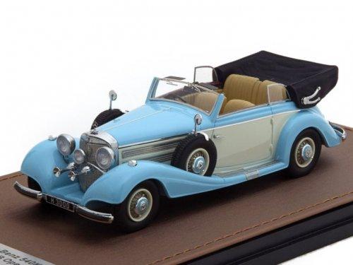 1:43 GLM Mercedes-Benz 540K Cabriolet Typ B (открытый) 1937 голубой с бежевым