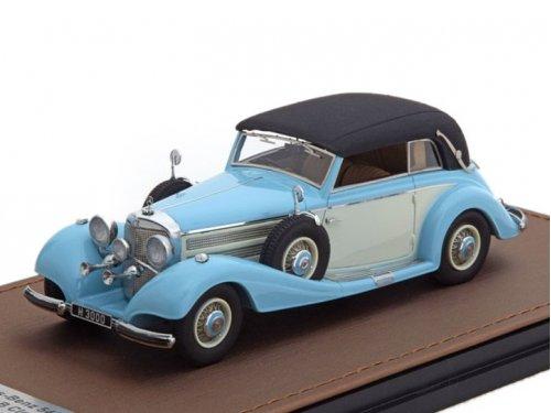 1:43 GLM Mercedes-Benz 540K Cabriolet Typ B (закрытый) 1937 голубой с бежевым