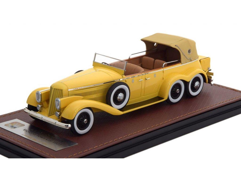 1:43 GLM Hispano Suiza H6A Victoria Town Car Cabriolet (закрытый) 1923 желтый