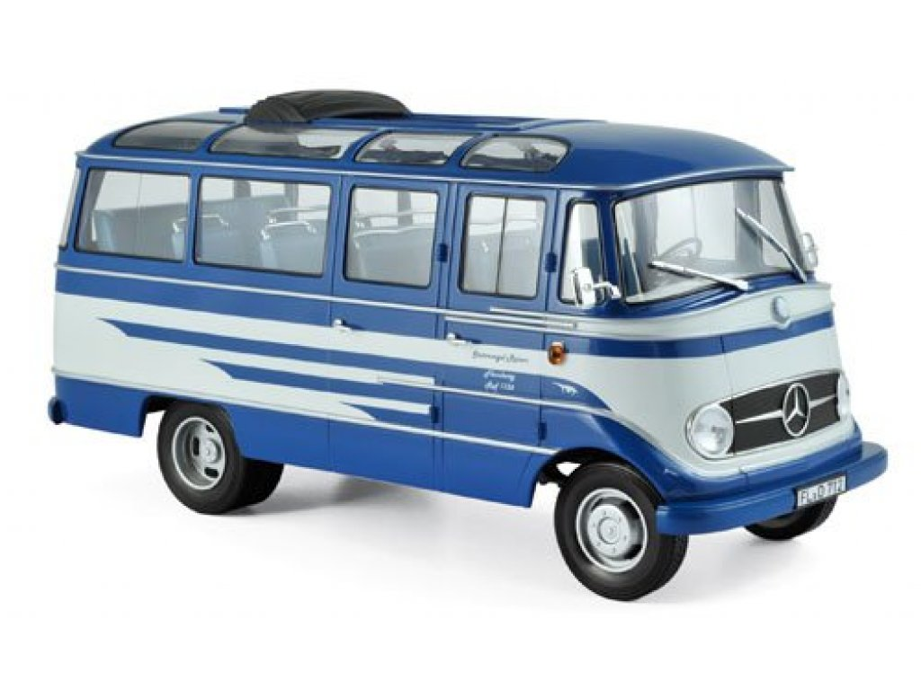 1:18 Norev Mercedes-Benz O319 1957 синий с бежевым