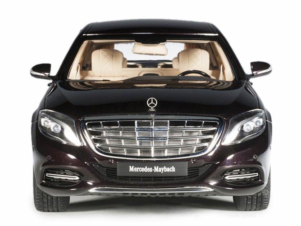1:18 AUTOart Mercedes-Maybach S600 Pullmann 2106 VV222 (W222) бордовый