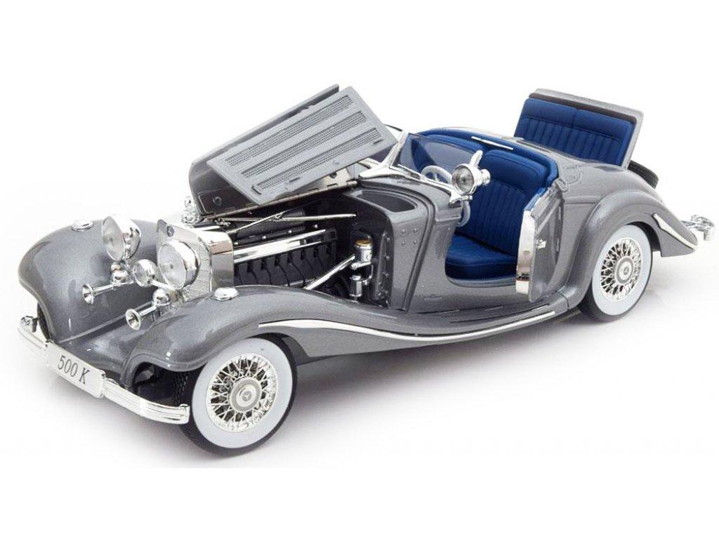 1:18 Maisto Mercedes-Benz 500К W29 1936 серый металлик