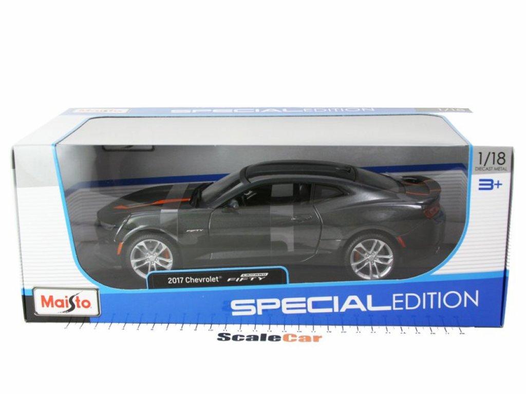 1:18 Maisto Chevrolet Camaro 2017 Юбилейный выпуск к 50-ти летию Камаро, темно-серый металлик