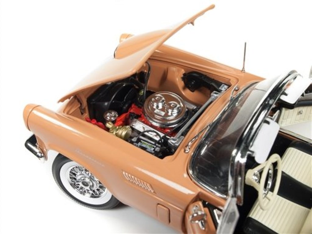 1:18 Auto World Ford Thunderbird Convertible (60th Anniversary) коралловый с черным