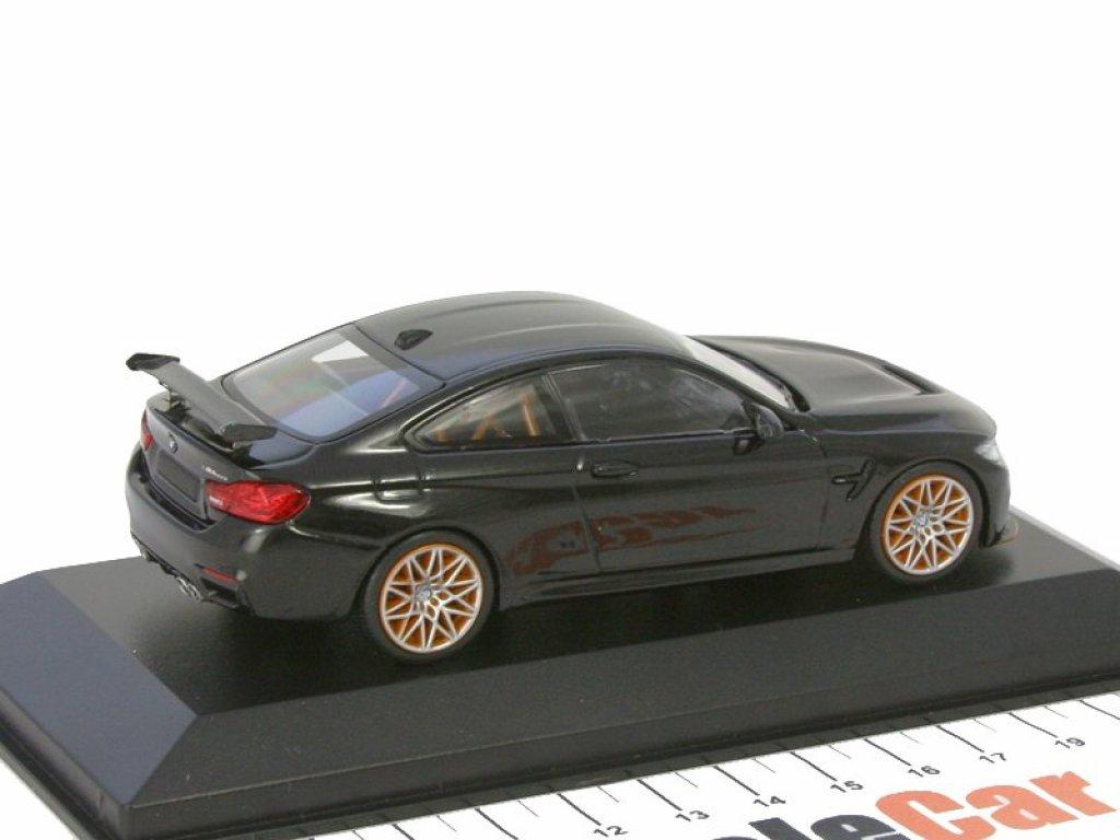 1:43 Minichamps BMW M4 GTS 2016 черный металлик с оранжевыми колесами