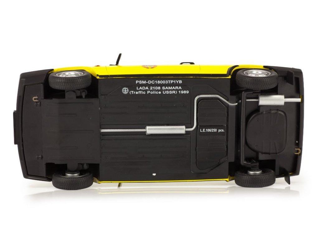 1:18 Premium Scale Models ВАЗ-2108 Спутник ГАИ Милиция СССР желтый с синим