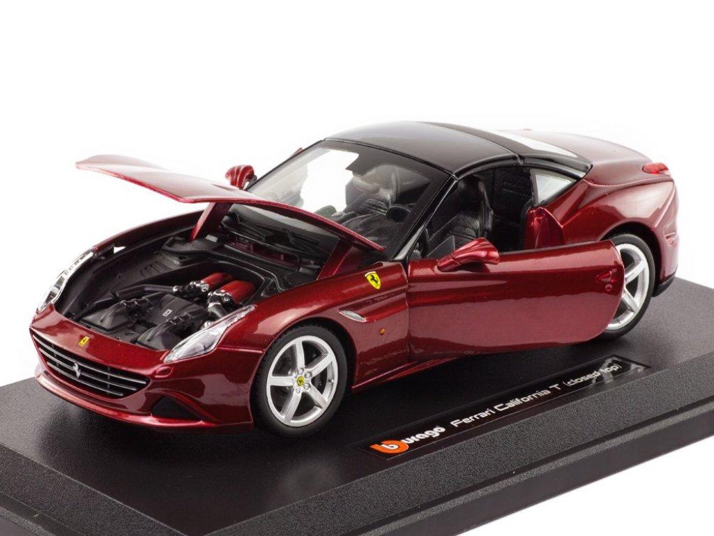 1:24 BBurago Ferrari California T закрытый красный