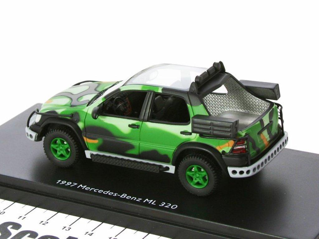 1:43 Schuco Mercedes-Benz ML 320 (W163) 1997 из фильма Парк Юрского Периода (Jurrasic Park) открытый