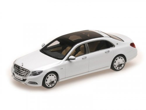 1:43 Almost Real Mercedes S Class Maybach 2016 белый перламутр