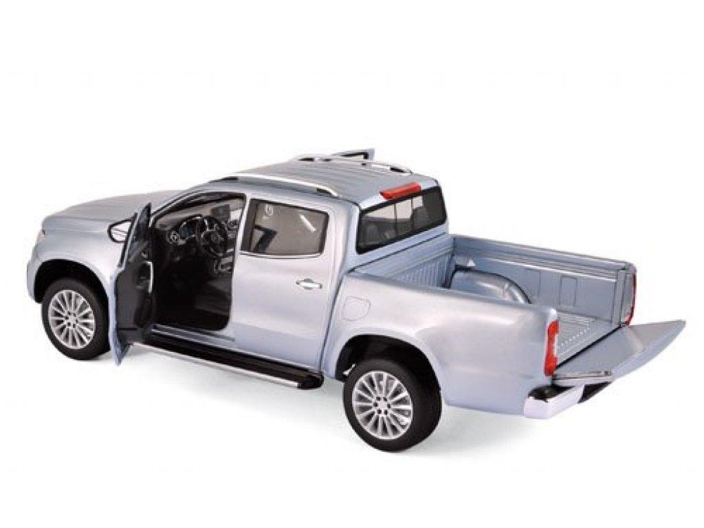 1:18 Norev Mercedes-Benz X-Klasse Pick-Up (BR470) 2017 серебристый