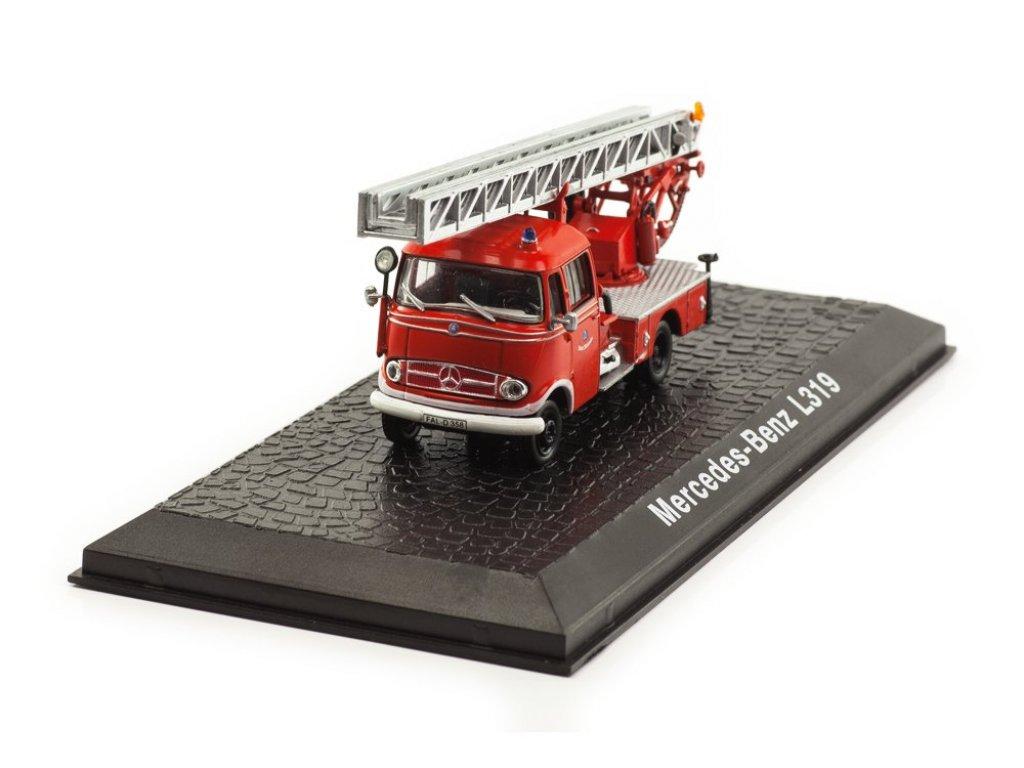 1:72 Atlas Mercedes-Benz L319 пожарная лестница 1961 пожарный
